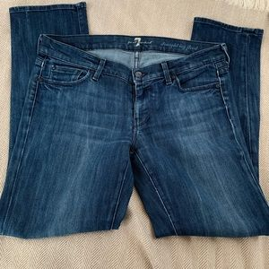 7 for All Mankind Straight Leg Flood Jeans